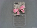 Bling crystal bow diamond phone case cover for Iphone5 4 4s