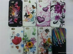 Soft Skin TPU Gel Flower Case for iPhone 5 all kinds of mobile phones are accept