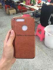 Ultra thin leather soft bumper tpu case for iPhone 7 TPU Skin Leather Case