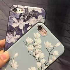 Floral TPU cellphone case for iphone 6 plus ,3D print Customized Phone case