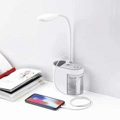 Pen Holder Desk Reading Lamp Portable Office Recharge Study Multifunction Lamp