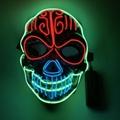 Halloween Christmas Led Luminous Mask Cosplay Flashing Luminous Face Led Mask