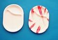 oval dinning tray--2 comp. -laminates