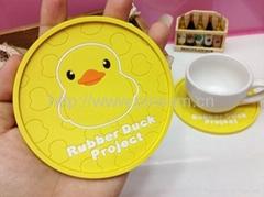 創意時尚小黃鴨硅膠杯墊