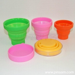 hot sell silicone fold cup