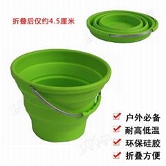 便携式硅胶折叠水桶