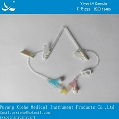 disposable sterile safety iv cannula y type size