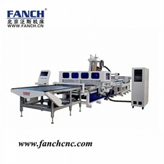 Hot sale customized kitchen cabinet and wardrobe production line/cnc router