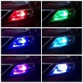 T10 5050 6SMD RGB LED Car Light with Remote Controler 2
