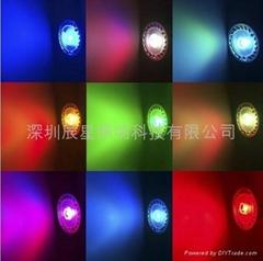 LED射燈七彩搖控射燈 3WRGB
