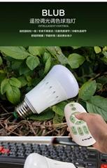 無級遙控LED燈泡 可調光調色