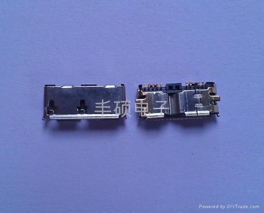 MICRO USB3.0 10PIN 母座接口  2