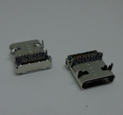 TYPE C USB 3.1沉板式母座小米華為手機充電接口