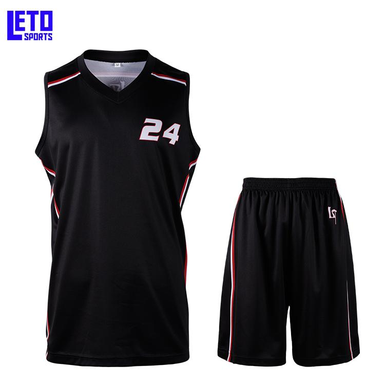 2020 new design basketball tops basketball shorts print name and number 4