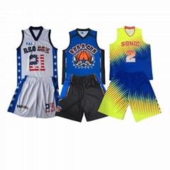 2020 new design basketball tops basketball shorts print name and number