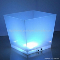 LED ice bucket, wine chiller