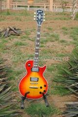 gibson les paul standard cherry sunburst kiss chrome electric guitar