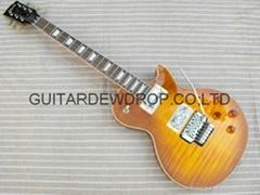 gibson les paul standard Floyd rose tremolo vibrato  flame top electric guitar