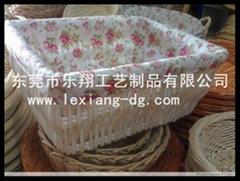 柳编食品篮