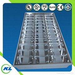 led grille panel fixture for t8 tube with UL CUL 3*36W