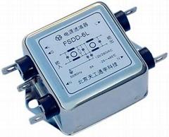 D封裝交流單相雙節濾波器