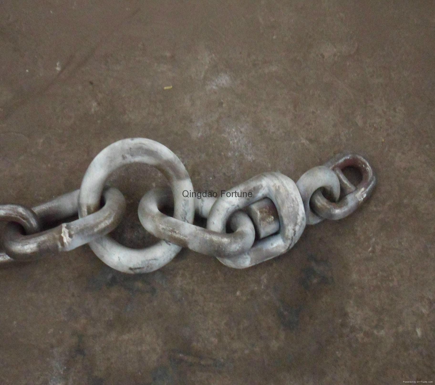 Grade U1/U2/U3 stud link anchor chain with certificate 2