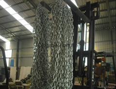 Zinc plated carbon steel link chain