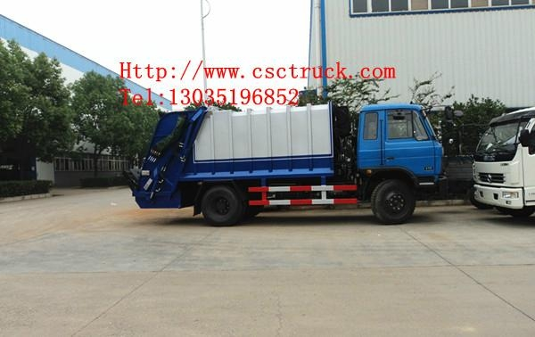 Dongfeng 4*2 compressor garbage truck 3