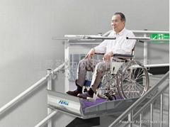 斜挂式轮椅升降平台