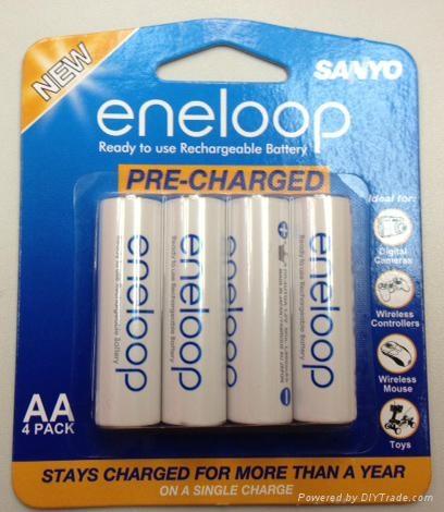 Genuine Sanyo Eneloop Rechargeable Ni-MH Batteries HR-3UTGA-4BP HR-3UWXA-4H 1