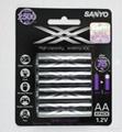 Genuine Sanyo Eneloop Rechargeable Ni-MH Batteries HR-3UTGA-4BP HR-3UWXA-4H 2