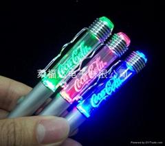 LED Fiber Pen with custom-made sculp in light