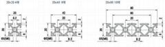 铝型材挤压角铝,锚式连接销