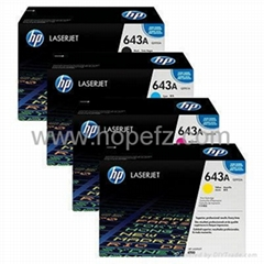 HP 643A Black/Magenta/Blue/Yellow LaserJet Toner Cartridge Q5950A/51A/52A/53A