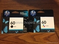 HP 60 Black and Color Ink Cartridge CC640WN/CC643WN printer cartridge for sale