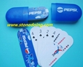 Mini Playing Cards in Plastic Tube Box