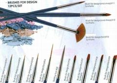 Eeesa Kolinky Synthetic Hair Nylon Nail Art Metal Handle Gel Nail Brush Beauty