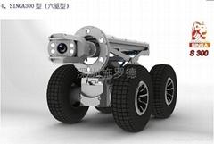 重型多功能智能管道CCTV检测机器人