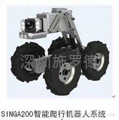 新型管道智能CCTV检测爬行机器人