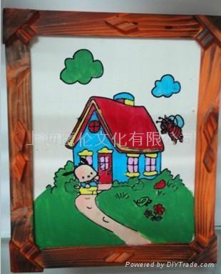 【xinle儿童益智diy】 10寸彩泥木板画