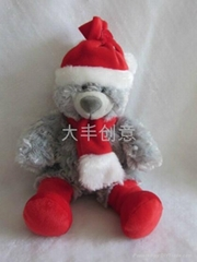 Christmas bears, muticolored