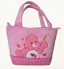 plush embroidery  handbag