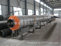 聊城鋼套鋼地埋式預制蒸汽保溫管