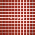Strawberry Red   1x1 Dark Red Glass Mosaic Tile For Bathroom 1