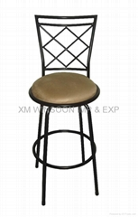 Metal Upholstered Swivel Bar Chair-China-Trade-Living Room Furniture