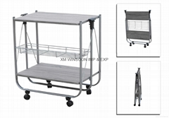 Cheap foldable Metal Kitchen Trolley-China-Trade-Kitchen Furniture