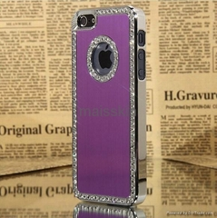 iPhone 5 Bling Diamond Crystal Aluminum Chrome Metal Case