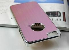 iPhone 5 Chrome Aluminum Skin Hard Case cover