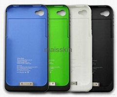 New 1900mAh External Backup Battery Charger Case For Iphone 4 4S