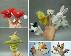 Lovely Funny Finger Puppet with Xmas Hat